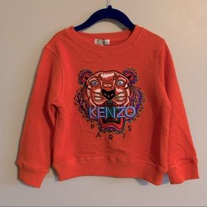 NWT KENZO kids orange embroidered tiger sweater